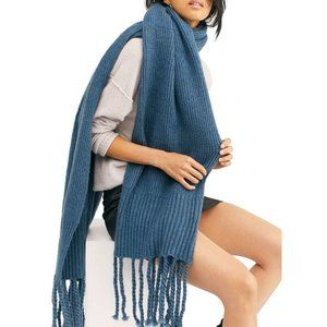 NWT Free People Oversized Scarf Blue